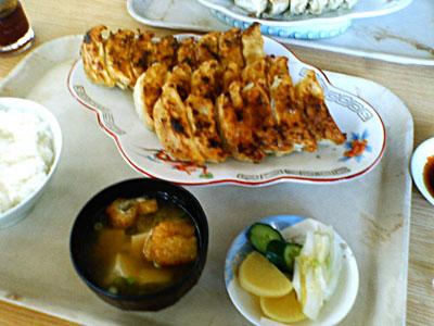 ふくみつの餃子定食