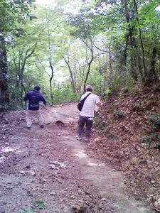 岩屋城ウォークラリー登山道整備(作州津山商工会青年部久米支部)