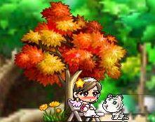 紅葉の木の下で (2)