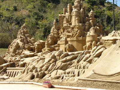 シンボル砂像