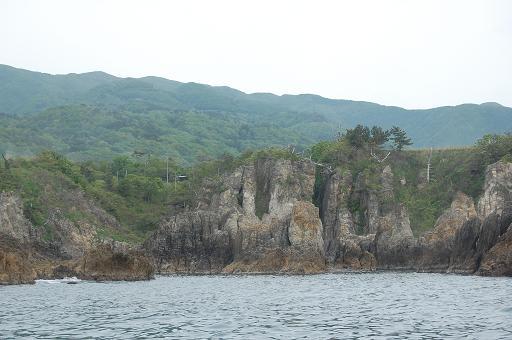 想像を逞しくすれば何かに見える岩
