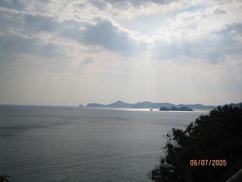 御荘から望む宇和海(愛媛県)