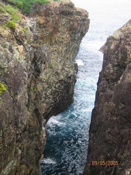 こんな岩場でした