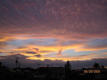 帯広の夕焼け(北海道)