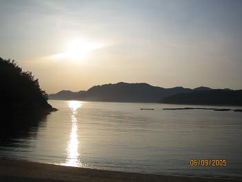 無人島からの夕焼け(愛媛県)