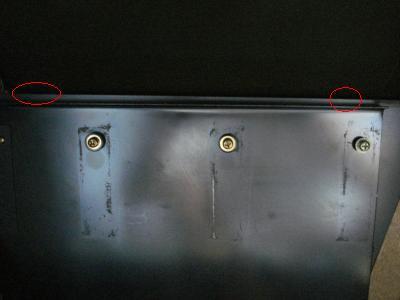 台座の隙間斜め