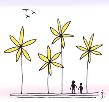 「アリとお花」                                                                仕事で行き詰まったった時は、アリンコになってみよう      アリンコの気持ちになって、お花と対話してみよう                                                      余計に息詰まっちゃっちゃうかな(爆)                                                                 ZZZzzz・・・。
