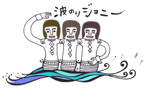 波の上で踊る人