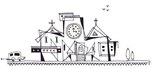 ハウルの動く教会。
