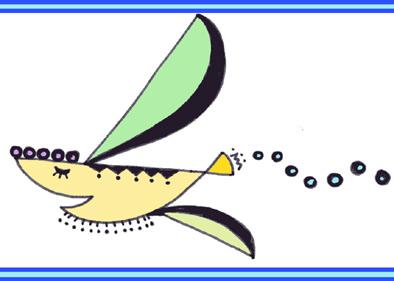 鳥か魚か飛行機か。