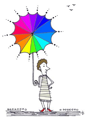 日傘 じゃなくて 傘日。