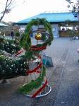 入り口のクリスマス飾り