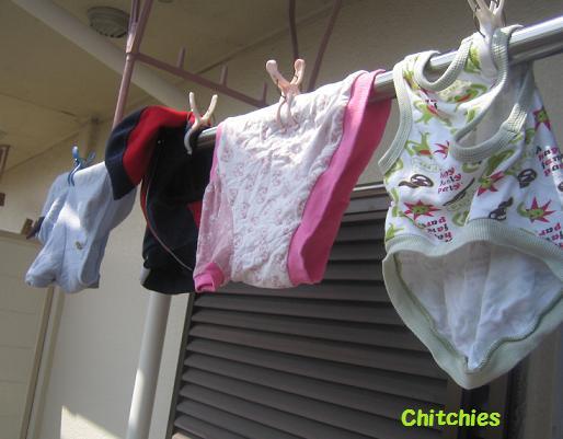 洗濯物までかわええ