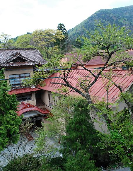 藤三旅館(坂の上から)