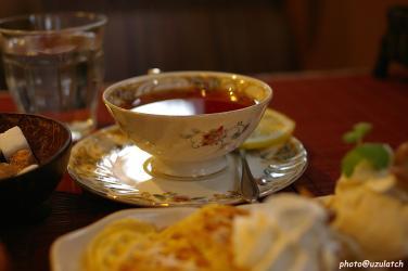 マロンワッフル-紅茶