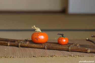 落柿舎^柿の置き物
