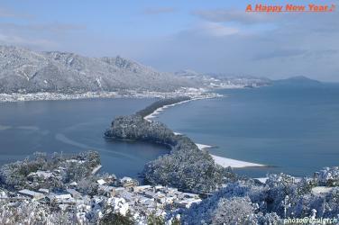 天橋立~雪景色