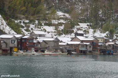 雪景の舟屋01