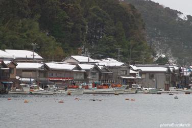 雪景の舟屋02