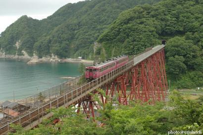 上からの鉄橋