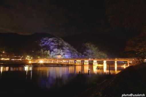渡月橋ライトアップ01