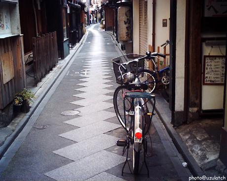 先斗町の自転車