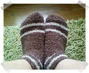 もこもこ靴下~