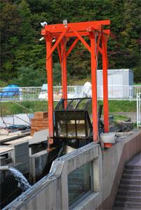 豊浦インディアン水車の水車