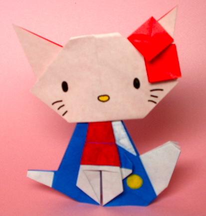 簡単 折り紙 折り紙 キティちゃん 折り方 : matome.naver.jp