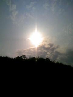石神山からの太陽