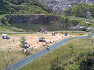 石神山公園上から見た風景