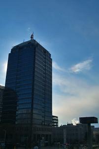 市役所高層館と右幻日