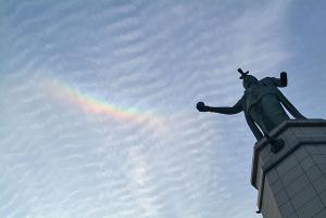 龍女神像と環天頂アーク