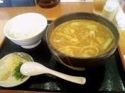 地鶏カレーうどん(大盛)+ライス