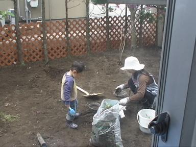 庭~ふるいで整地~