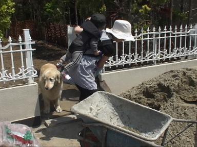 庭~砂搬入~