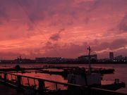 加藤汽船ビルからの夕焼け(後藤さん撮影)