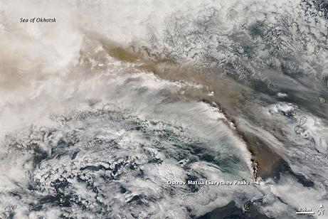 サリチェフ噴煙流出図