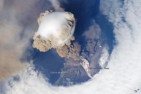 サリチェフ噴火詳細図