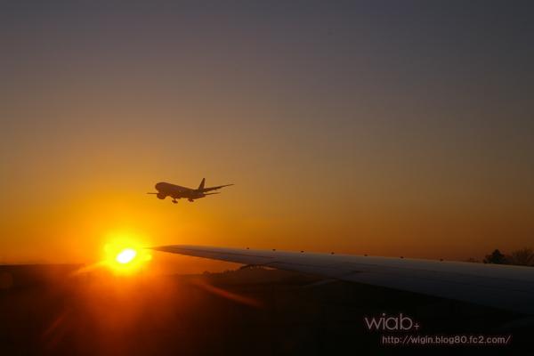 到着する便もあれば飛び立つ便も。。