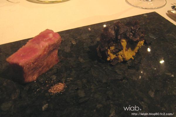 出汁入りの肉とトリュフ乗っかったおから☆ 日本人ならではって感じで美味しかった☆
