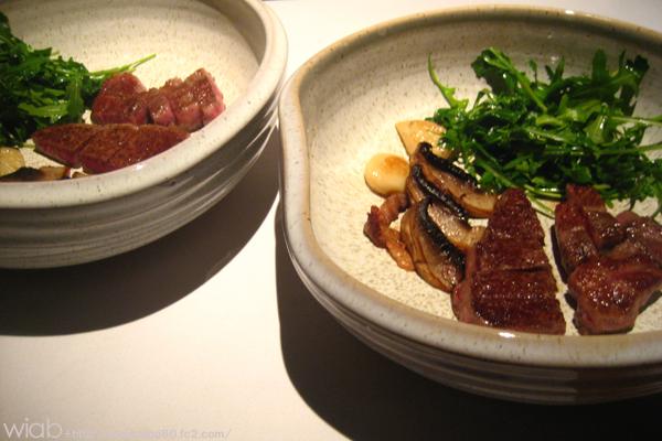 特選和牛のシャトーブリアンと何ちゃらの肉☆☆ さすがにシャトーブリアンは美味しい♪♪ 貴重な部位らしい。