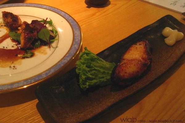 銀鱈西京焼と地鶏岩塩焼☆