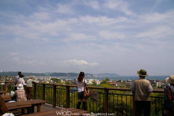 高台から景色観えるし