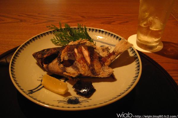旬の焼き魚 鯛だったかな。