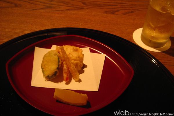 鱧天ぷら 野菜