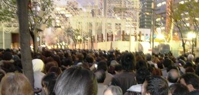ルミナリエ2008人混
