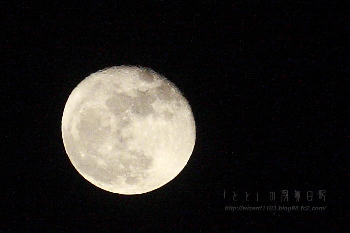 ベランダからの月