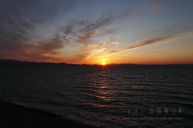 むつワンの夕日