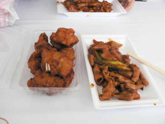 食肉まつり(唐揚&ホルモン)